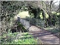 SK3134 : Footbridge over Hell Brook by Ian Calderwood