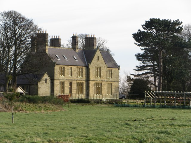 Large house at Adderstone Mains
