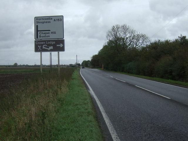 A153 towards Horncastle