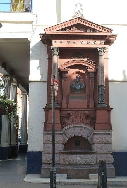 Memorial fountain for Augustus Harris (1852–1896)