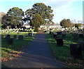 ST2994 : Path through the old cemetery in Cwmbran by Jaggery