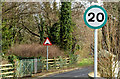 J3873 : Green-bordered speed limit sign, Belfast (February 2015) by Albert Bridge
