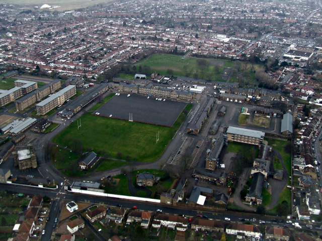 Cavalry Barracks, Hounslow from the air