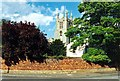 TF0919 : The Abbey Church from South Street, Bourne, Lincolnshire by Rex Needle