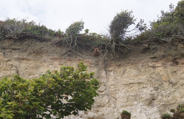 Example of cliff drainage - High Cliff