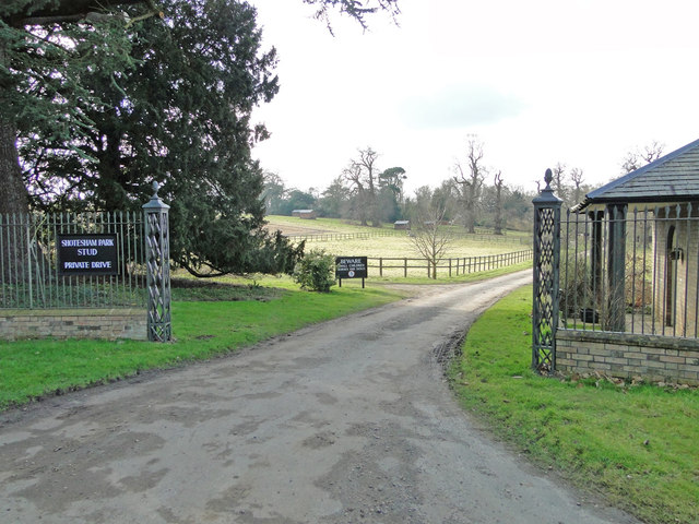 Entrance to Shotesham Park Stud