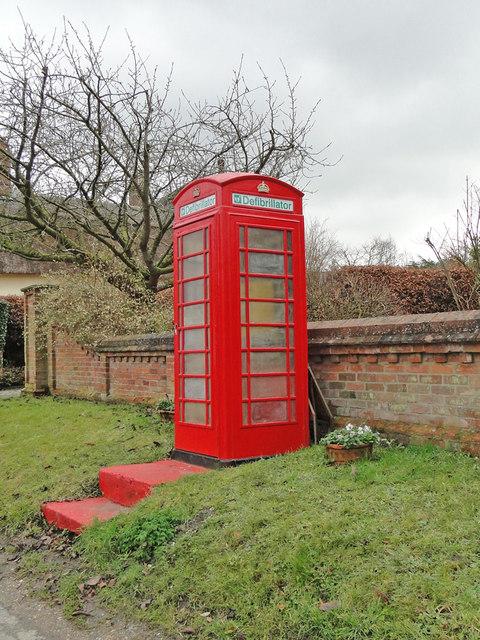 Defibrillator in a disused phone box, what a brilliant idea!