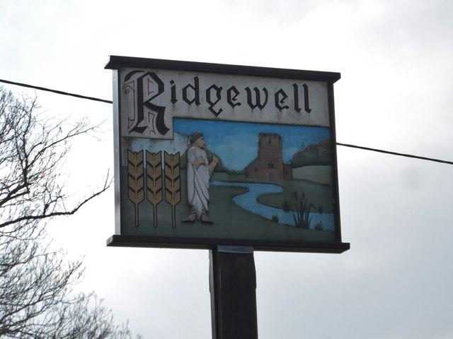 Ridgewell, village sign