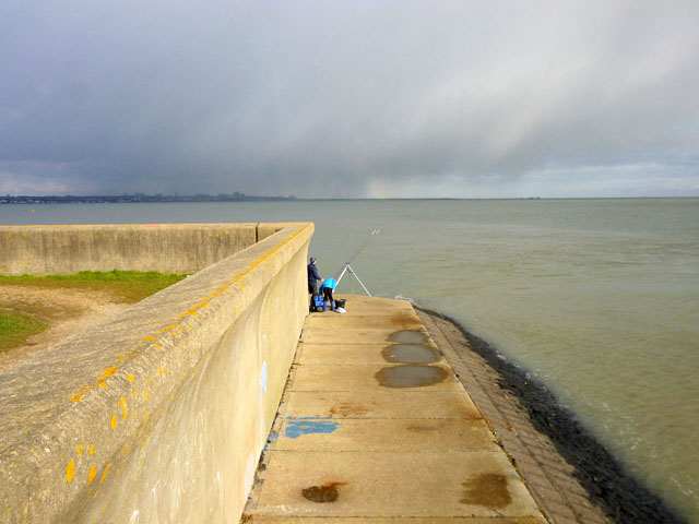 Fishing off Leigh Beck, Canvey Island