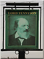 SK9772 : Sign of The Lord Tennyson by Richard Croft