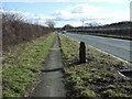 SE9958 : Milepost on the A166 by JThomas