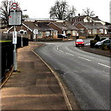 ST3091 : 20mph speed limit past Malpas Park Primary School in Newport by Jaggery