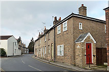 TL8422 : Brick terrace, Stoneham Street, Coggeshall by Robin Webster