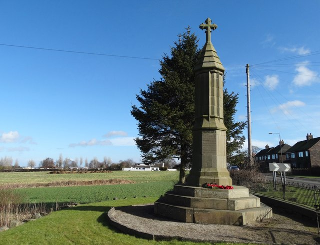 The war memorial in Marsh Lane