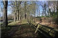 TL6857 : Leaning fence at Kirtling Towers by Bob Jones