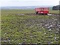 SE2550 : Portequip trailer in a muddy field, west of Rigg Farm by Christine Johnstone