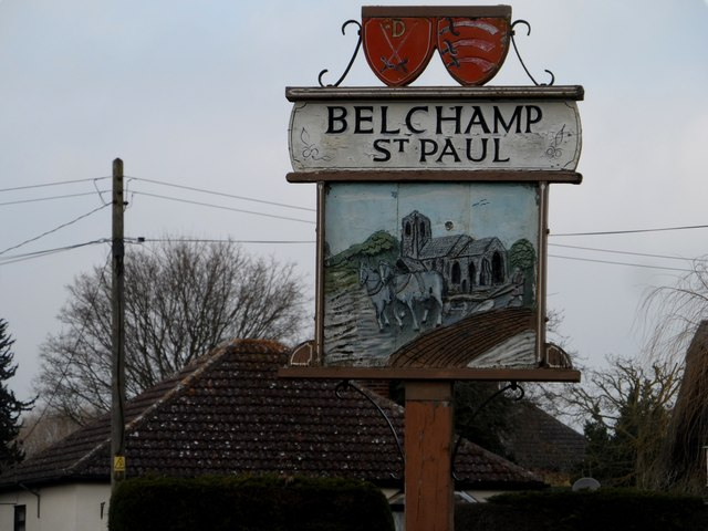 Village sign, Belchamp St Paul