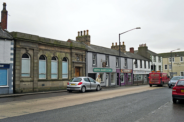 Empty bank building, Longtown High Street