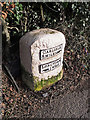 NY3868 : A restored milestone at Longtown by Rose and Trev Clough