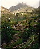 SH6659 : Tryfan from Blaen-y-Nant by Ken Wilkins