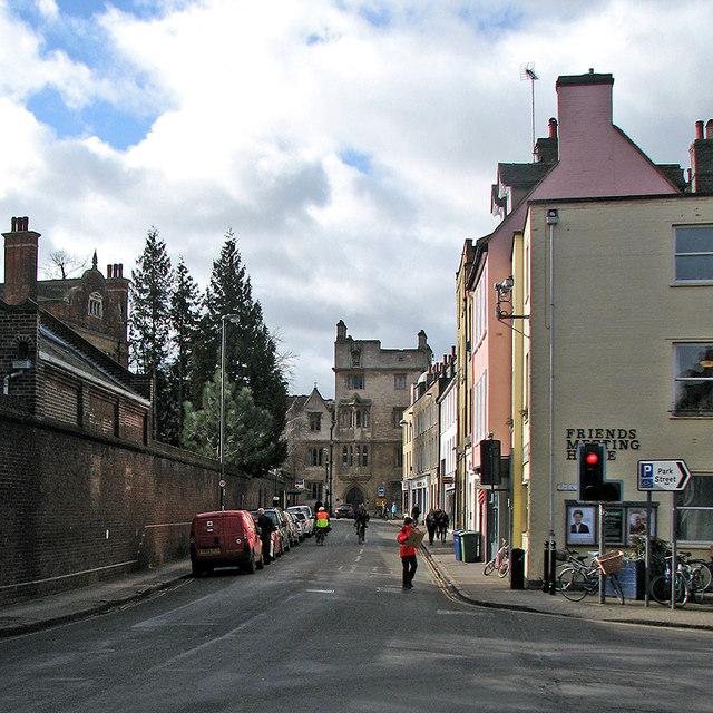 The corner of Jesus Lane and Park Street