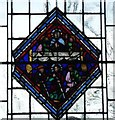 TQ3181 : Temple Church - Old glass diamond pane (1) by Rob Farrow