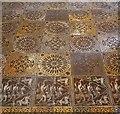 TQ3181 : Temple Church - Encaustic tiles in gallery (1) by Rob Farrow