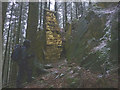SD3493 : 'Touchstone', a sculpture at Grizedale Forest by Karl and Ali
