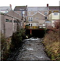 SS8591 : Llynfi flows under a dental surgery, Maesteg by Jaggery