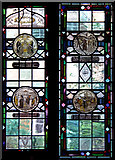 TQ2780 : Tyburn Convent, Hyde Park Place, W2 - Stained glass window by John Salmon