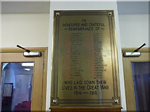 SD5193 : St Thomas, Kendal: war memorial by Basher Eyre