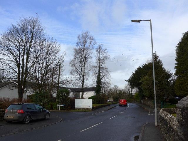 Road passing St Oswald, Burneside