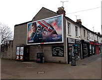SU1585 : Sky Movies Captain America advert on a Primesight corner of Gorse Hill, Swindon by Jaggery