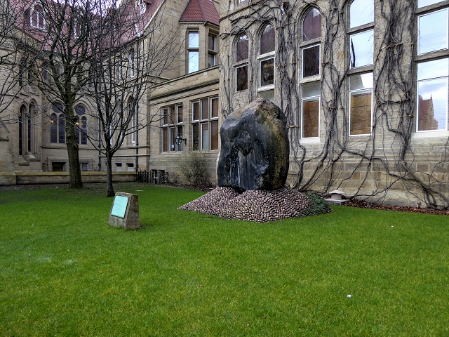 Andesite Boulder outside Manchester Museum