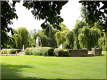 TF0920 : War Memorial Gardens at Bourne, Lincolnshire by Rex Needle