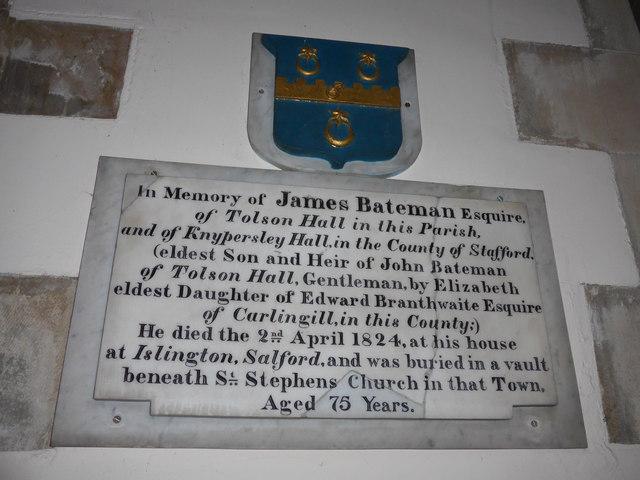 St Oswald, Burneside: memorial (i)