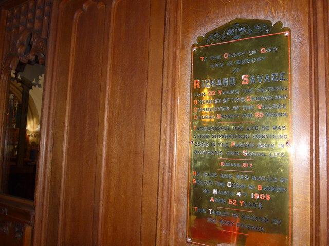 St Oswald, Burneside: memorial (iv)