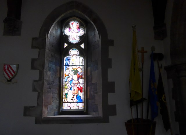 St Oswald, Burneside: stained glass window (A)
