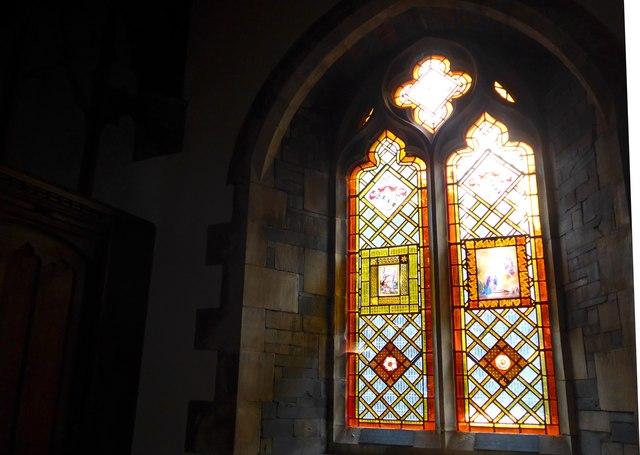 St Oswald, Burneside: stained glass window (C)