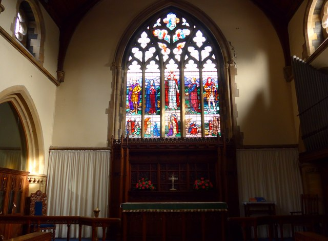 St Oswald, Burneside: stained glass window (D)