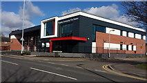 SK0418 : The new modern Rugeley fire station by Mick Malpass