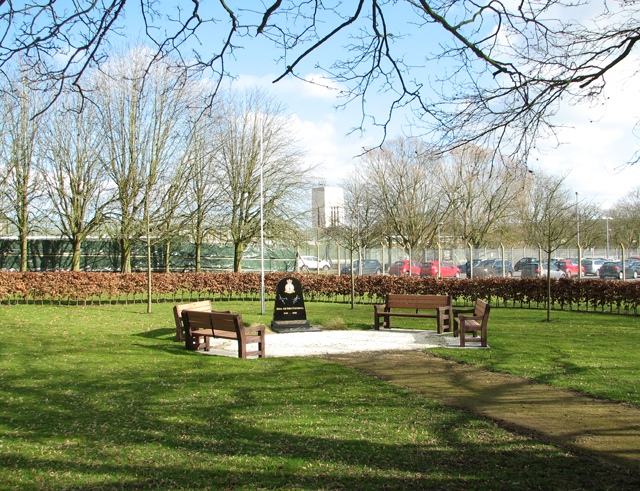 The RAF Coltishall Memorial Garden in Badersfield