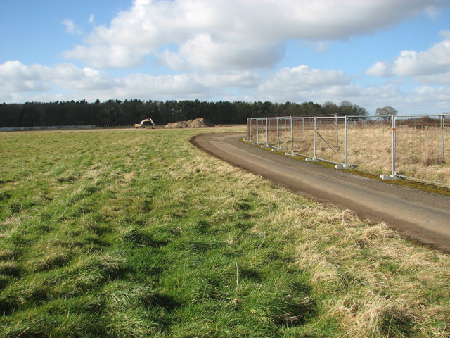 Security fencing at the former RAF Coltishall