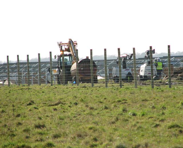 Solar farm construction at RAF Coltishall