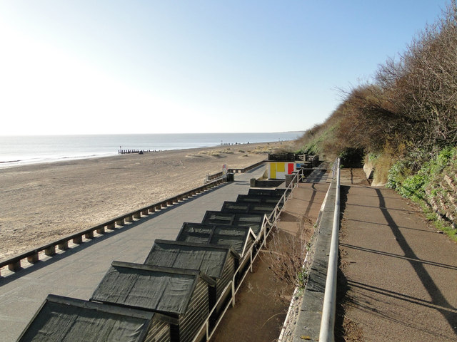 Beach huts below the CEFAS building by Adrian S Pye