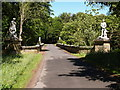 NZ2177 : Bridge with Statues at Blagdon Hall by Clive Nicholson