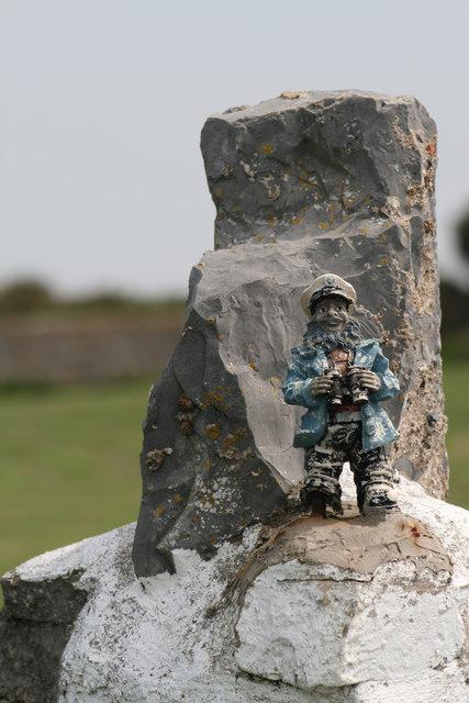 Gatepost to Chapel Point Lighthouse Caldey Island