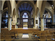 TQ2550 : St Mary's, Reigate: nave after reordering by Stephen Craven