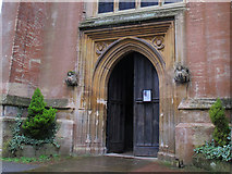 TQ2550 : St Mary's, Reigate: west door by Stephen Craven