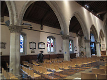 TQ2550 : St Mary's, Reigate: north arcade by Stephen Craven